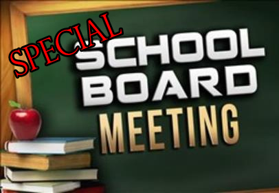 Special School Board Meting