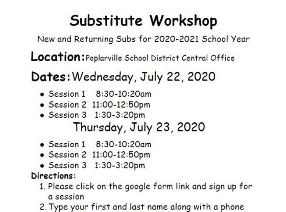 Substitute Workshop