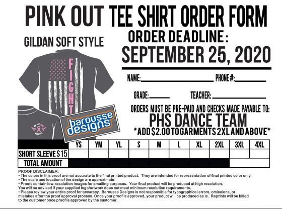 Pink Out shirt order
