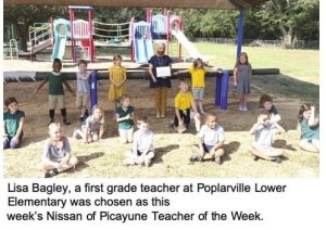 Teacher of the Week at PLE
