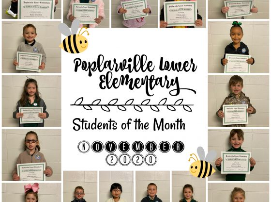 Students of the Month at PLE