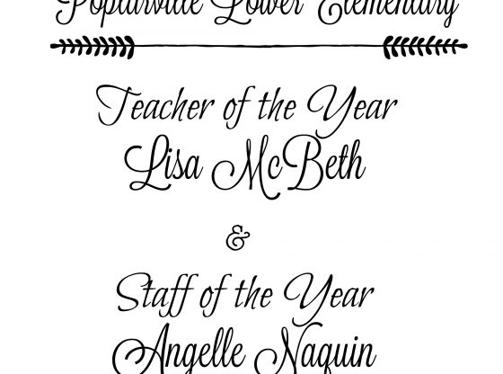 Teacher and Staff of the Year