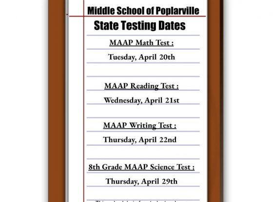 MSP state testing dates 2021