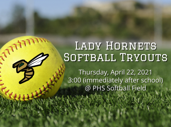 Lady Hornets Softball Tryouts