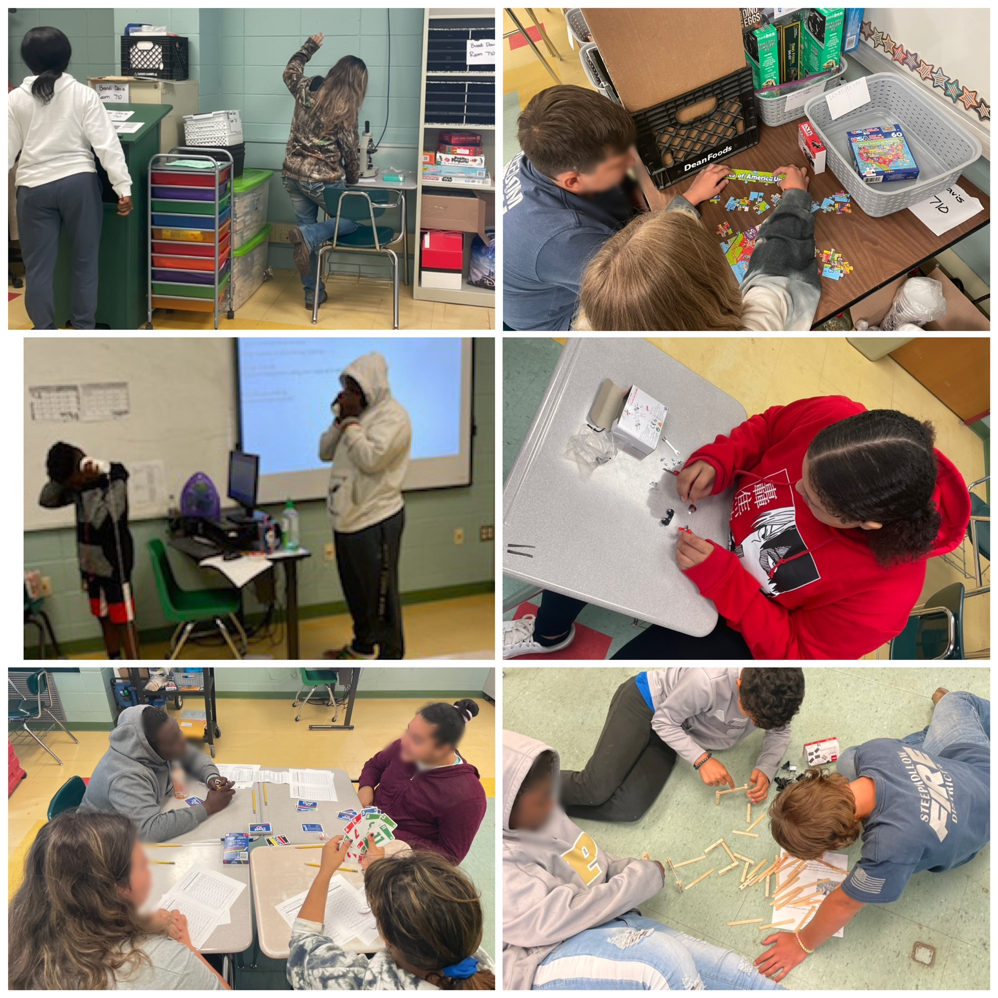 Students participate in hands-on activites.